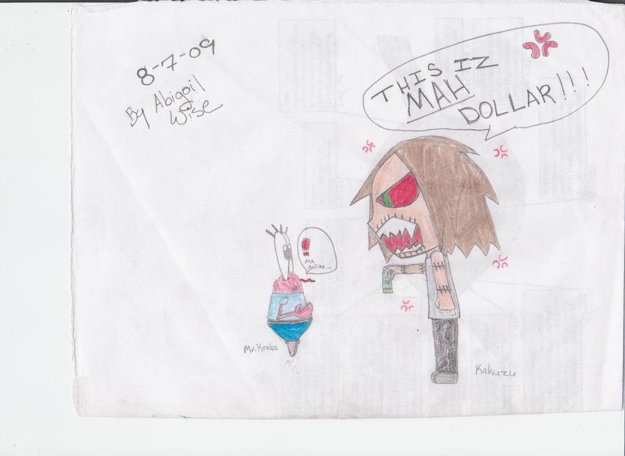 Kakuzu and Mr. Krabs by Tuna-Patty