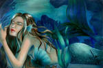 Blue Green Mermaid by almosthumansasa