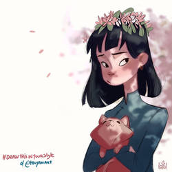 Draw this in your style of @Thuyanart by ILoyal