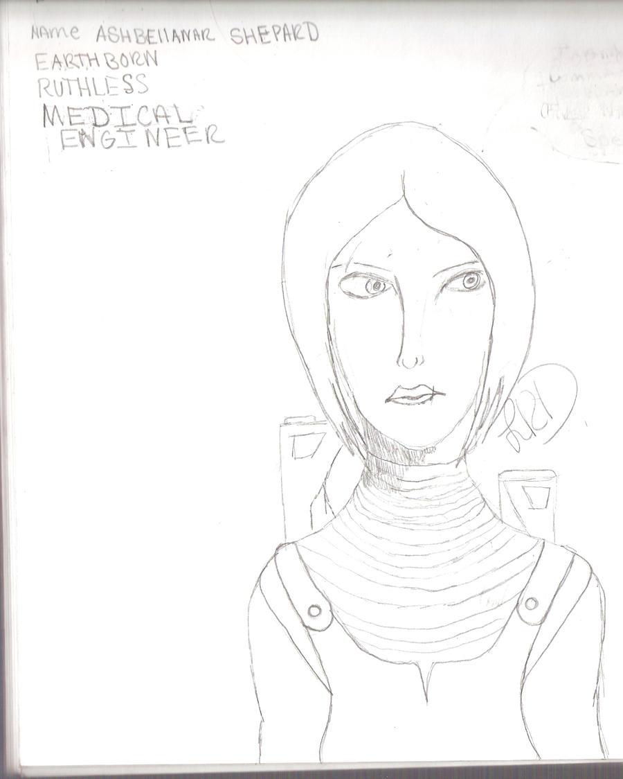 My Commander Shepard by LadyRoslineDrake