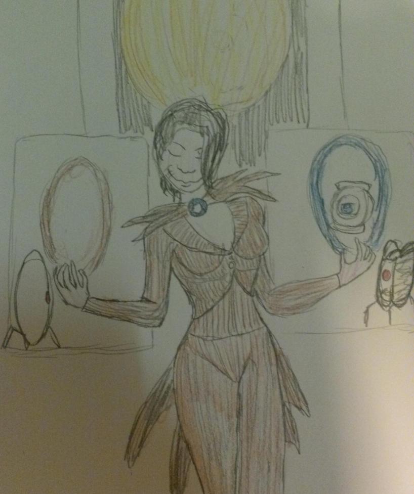 Nightmare Before Aperture by LadyRoslineDrake