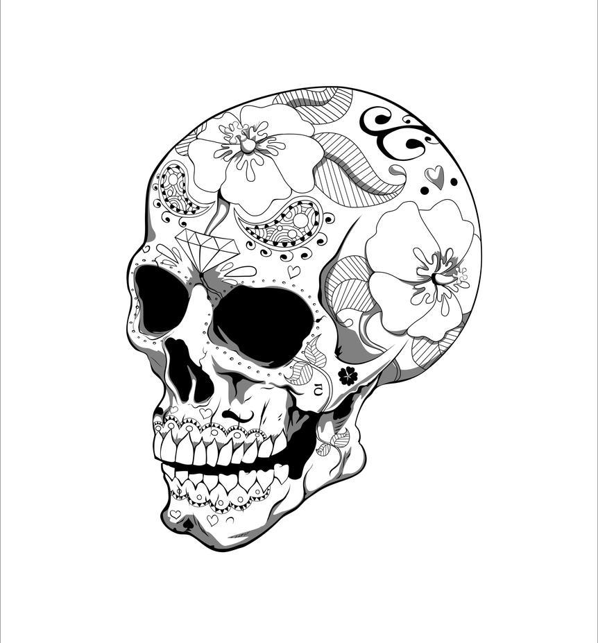 SkullTat_w by bayazoff