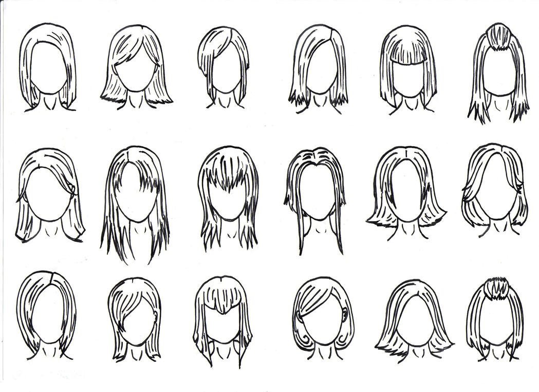 Hair Styles 1 By J Foxy On DeviantArt
