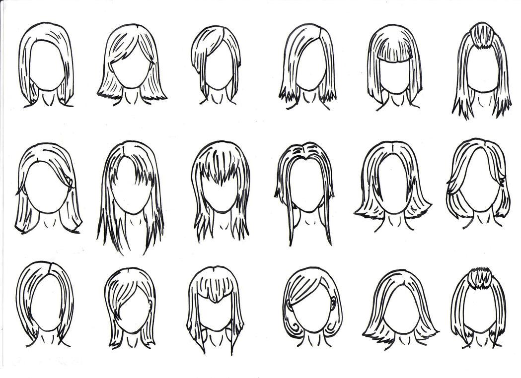 Hair Styles 1 By J Foxy On DeviantArt