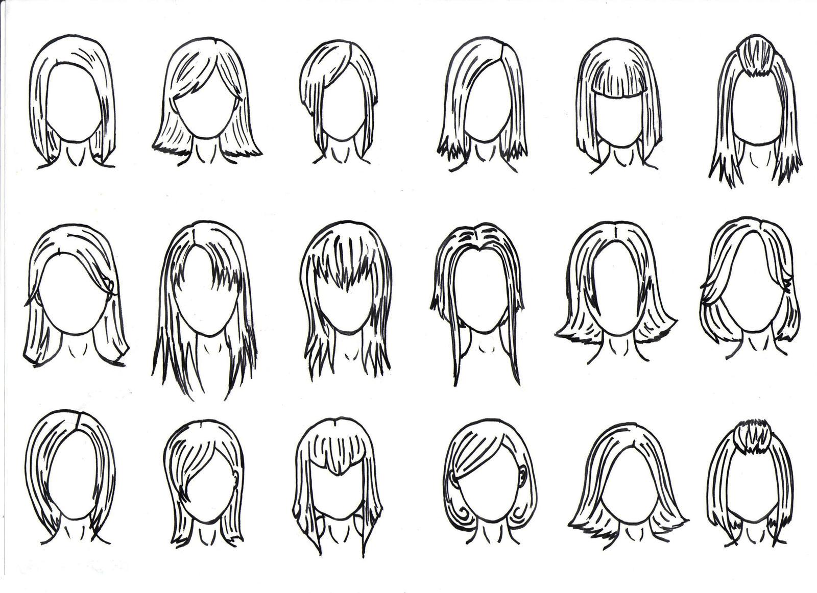 Прически на длинные волосы как нарисовать