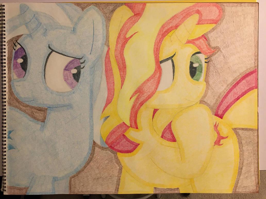 Trixie Lulamoon and Sunset Shimmer