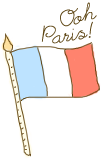 Doodle: Paris' Flag by chocoxbaby