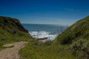 Dirt Path Leading to Ocean by happeningstock