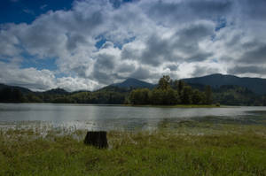 Lake, Mountains and Clouds 1 by happeningstock