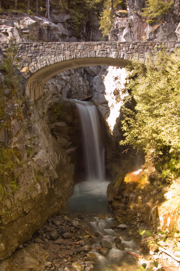 Waterfall Under Bridge, Sunny by happeningstock