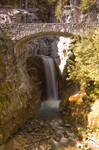 Waterfall Under Bridge, Sunny