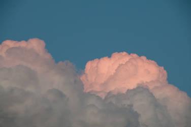 Pink Clouds around Sunset