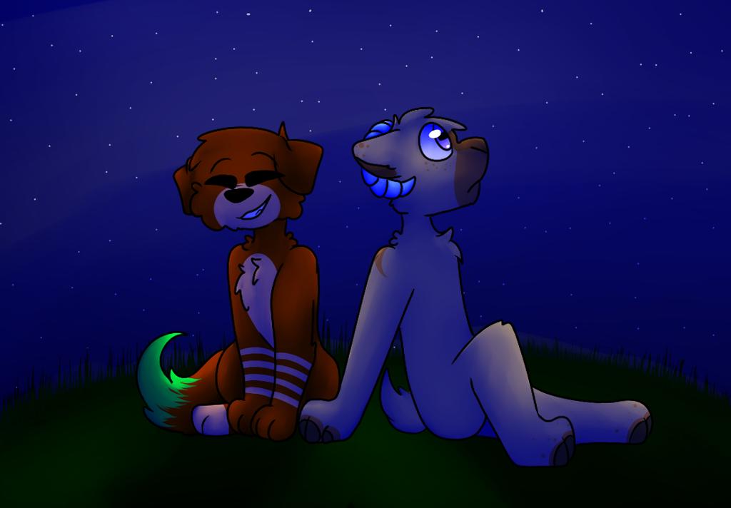 My two cuties by SleepyInu