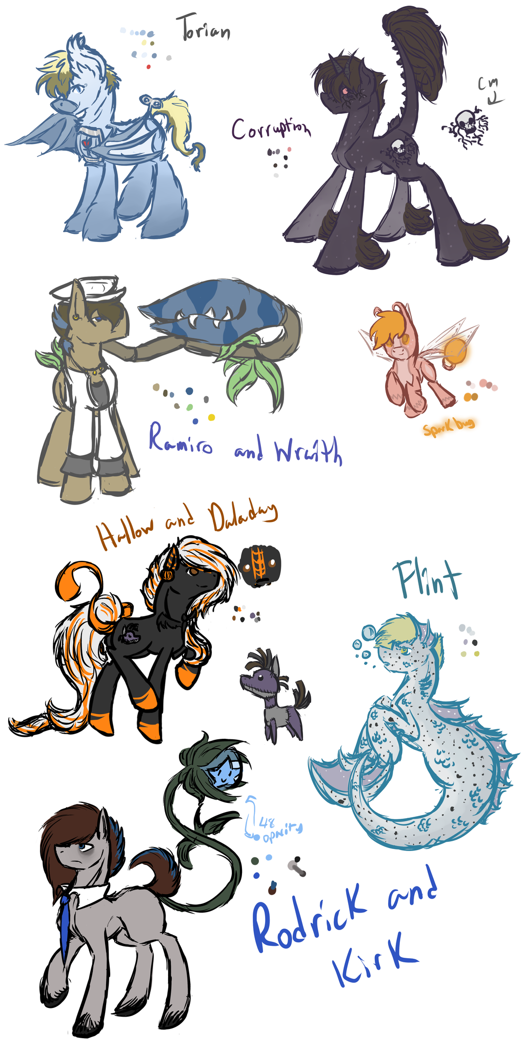 Exotic Species Ponies (WIP) by Amiookamiwolf