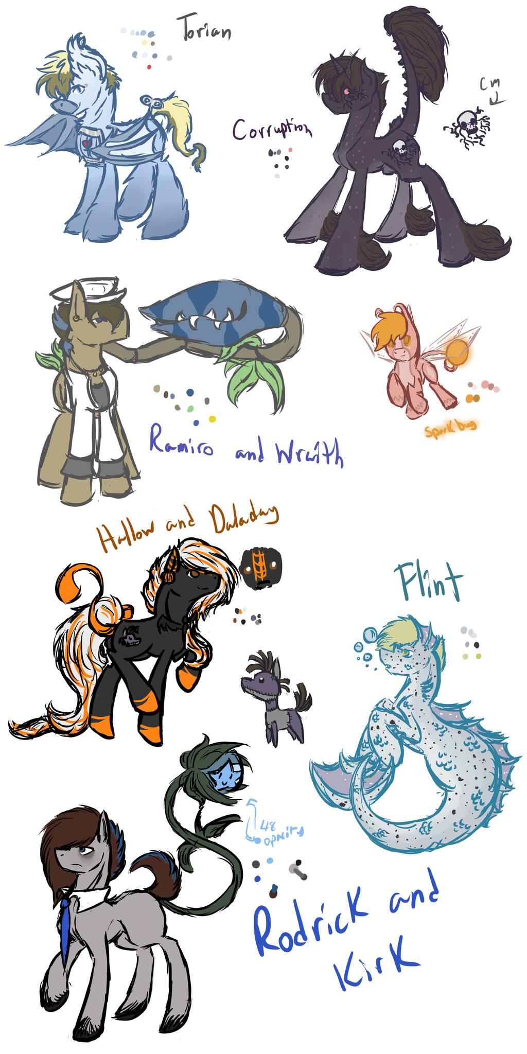 Exotic Species Ponies (WIP) by Amiookamiwolf