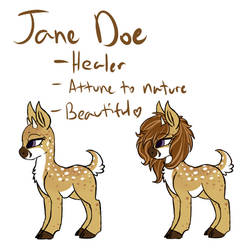 Jane Doe Reference by Amiookamiwolf