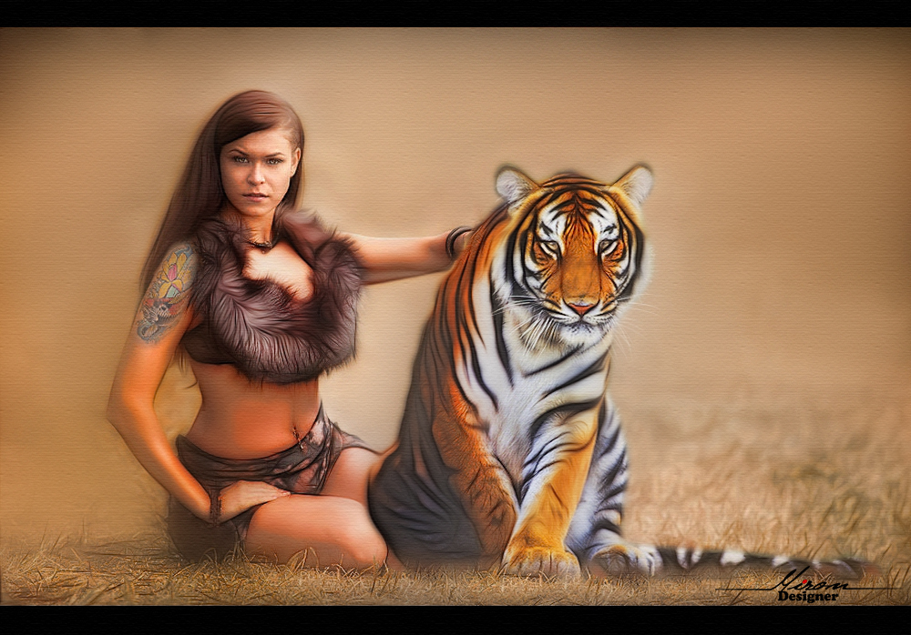 SARA AND TIGER by 67thy