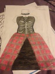 A dress i drew by mekiki13