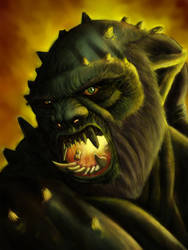 Orc Portrait by spdmngtruper