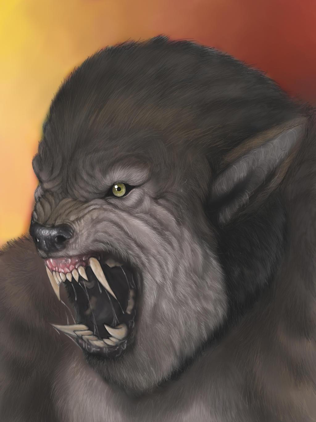 werewolf portrait by spdmngtruper
