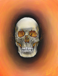 Halloween skull by spdmngtruper