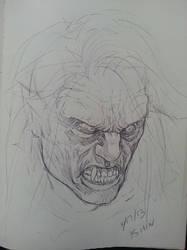 Quick vampire sketch by spdmngtruper