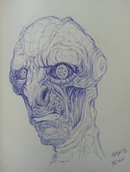 alien sketch by spdmngtruper