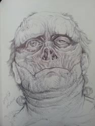Frankenstein monster sketch by spdmngtruper