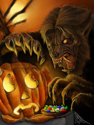 Halloween werewolf by spdmngtruper