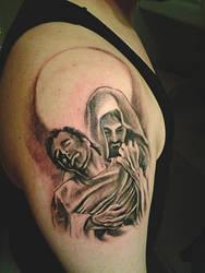 jesus tattoo by spdmngtruper
