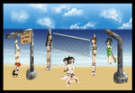 Commission Avatar Summer girls by kaozkaoz
