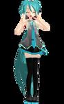 MMD Model DL - Sleeveless Ponytail Miku