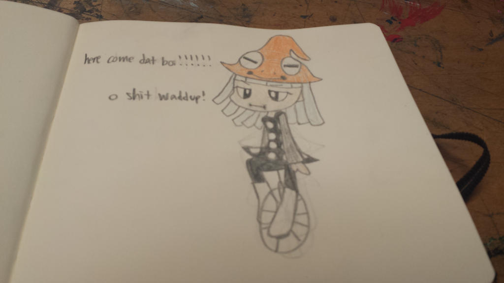 frogs on unicycles by Butterscotch-Scythe
