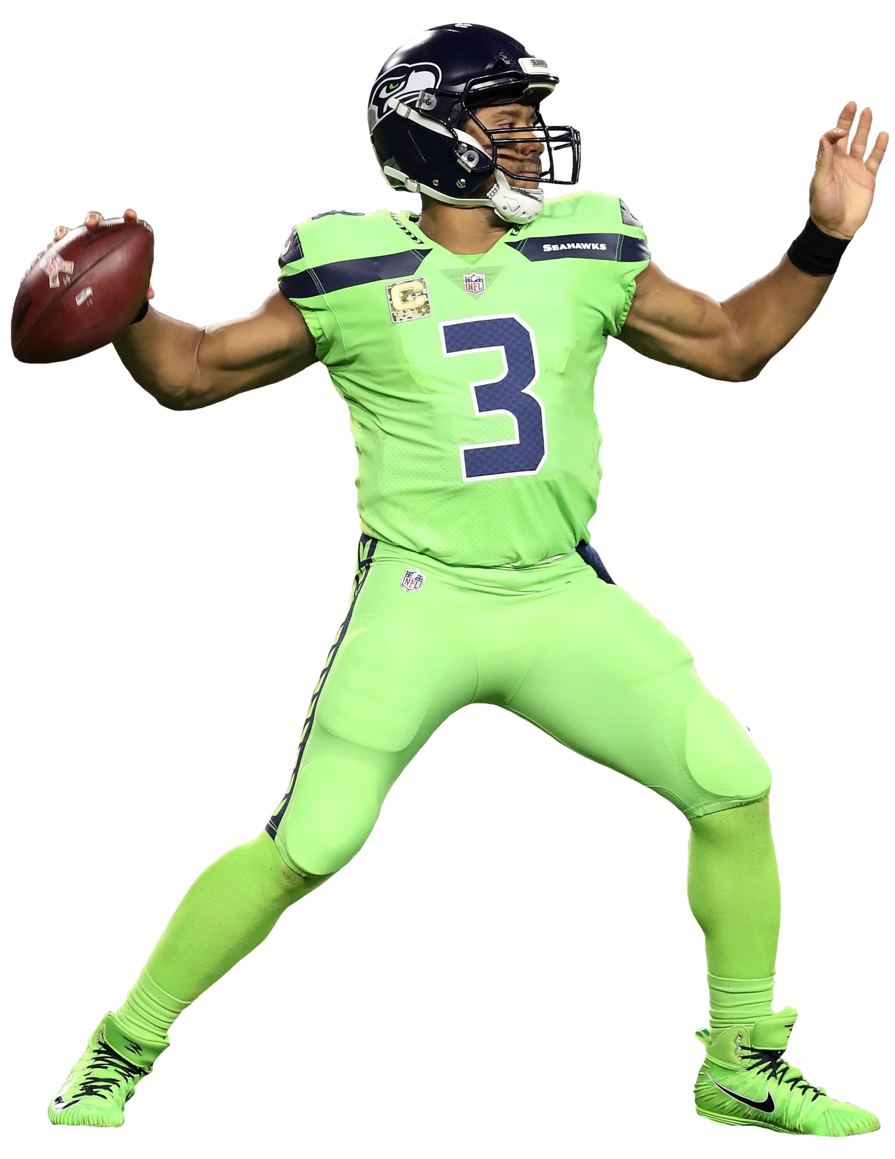 Russell Wilson Seahawks Color Rush By Nicolopez2602 On