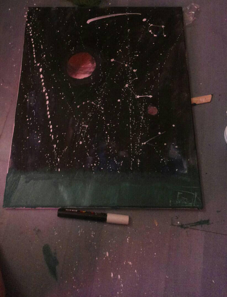 Galaxy painting.. fail ? by CrowKo-art