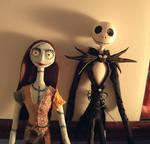 Jack and Sally figures