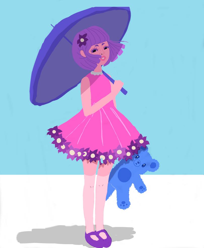 umbrella cutie (pink colorway) by Maddie6968