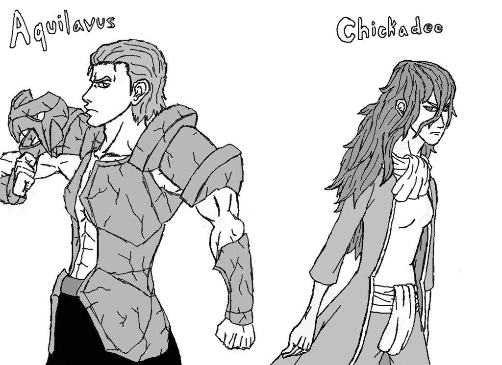 Aquilavus and Chickadee by Nikokage