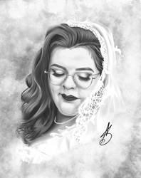 twisteddisaster wedding portrait by ValiantVivica