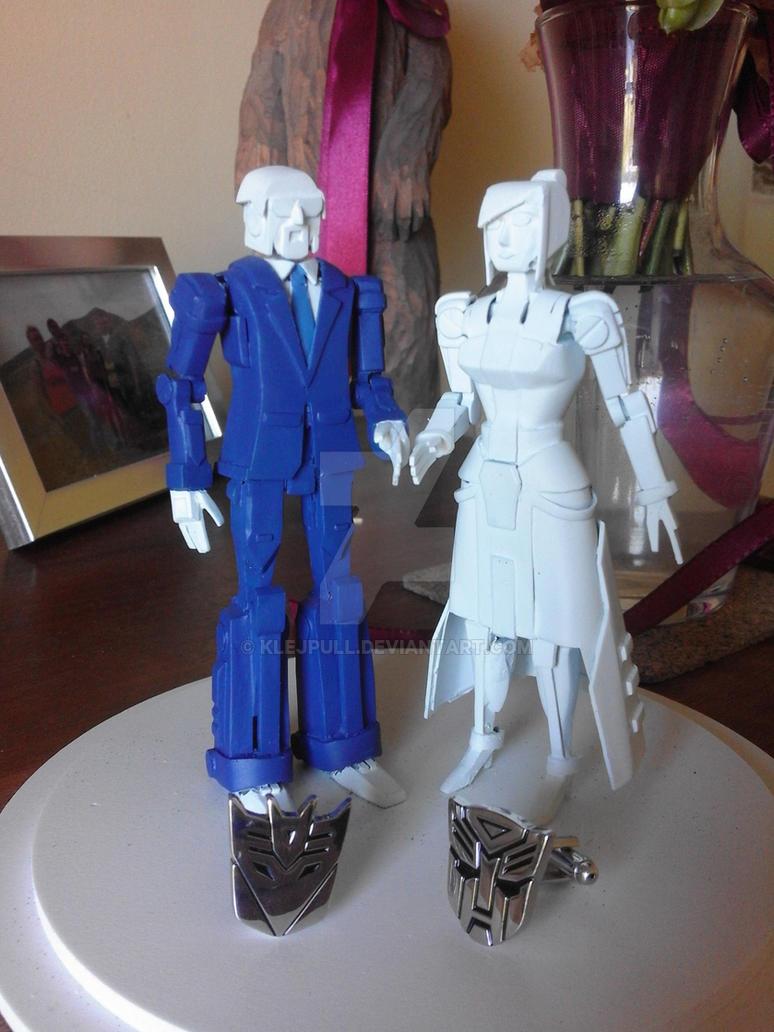 My wedding cake figures by Klejpull