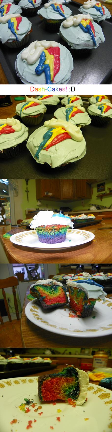 Rainbow DASH Cupcakes :D by MysteryUser101