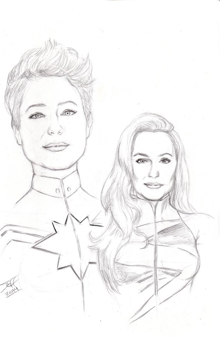 Evan Rachel Wood as Miss/Captain Marvel please! by jeffbanner