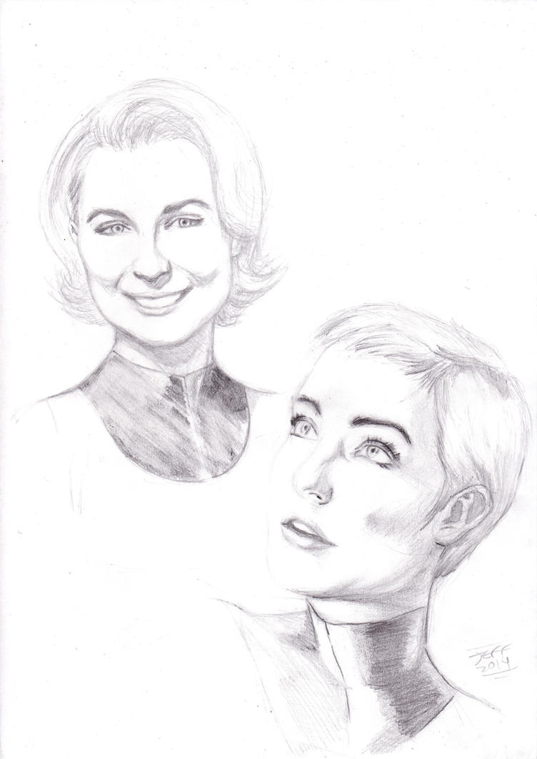 Invisible Woman Styles pencil ART by jeffbanner