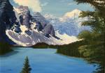Lake at the mountains