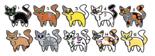 Free Warrior Adoptable Litters (Closed) by kitkat1481