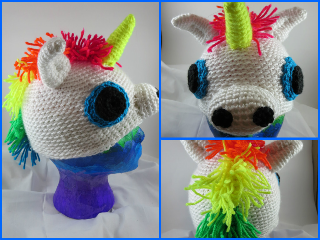 Crochet Pattern For A Unicorn Hat : Crocheted Rainbow Unicorn Hat by SilverRain8 on DeviantArt