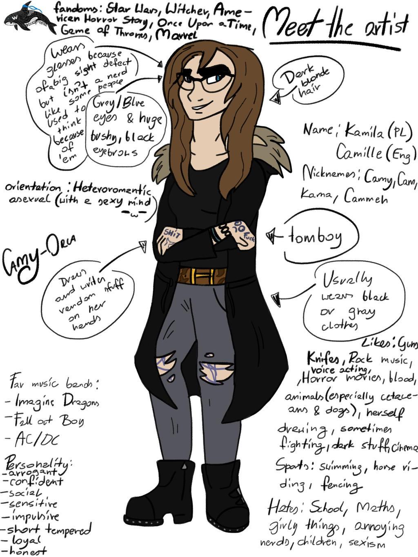 Meet the artist by Camy-Orca