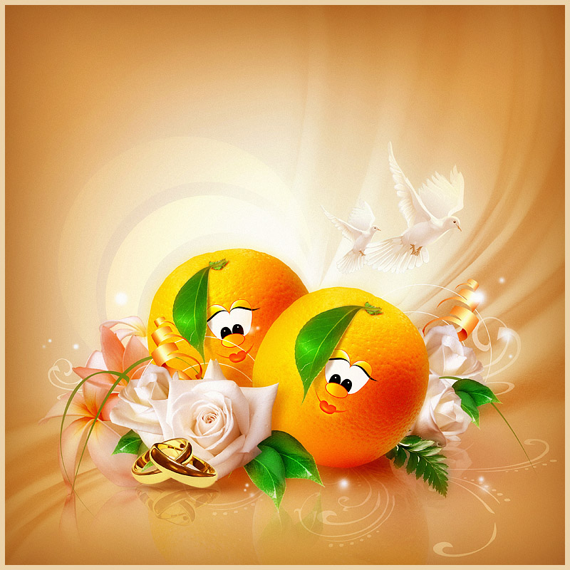 orange wedding by Vuelo