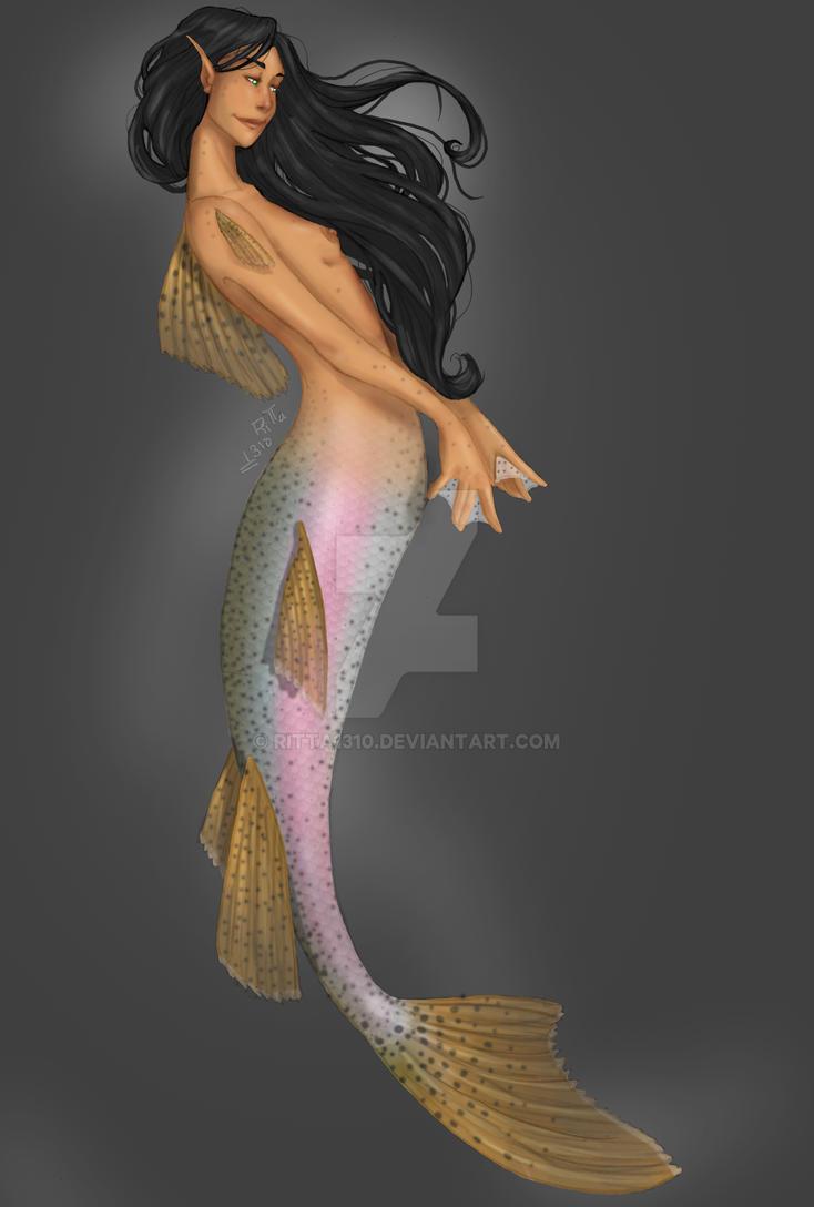Rainbow trout mermaid by RiTTa1310