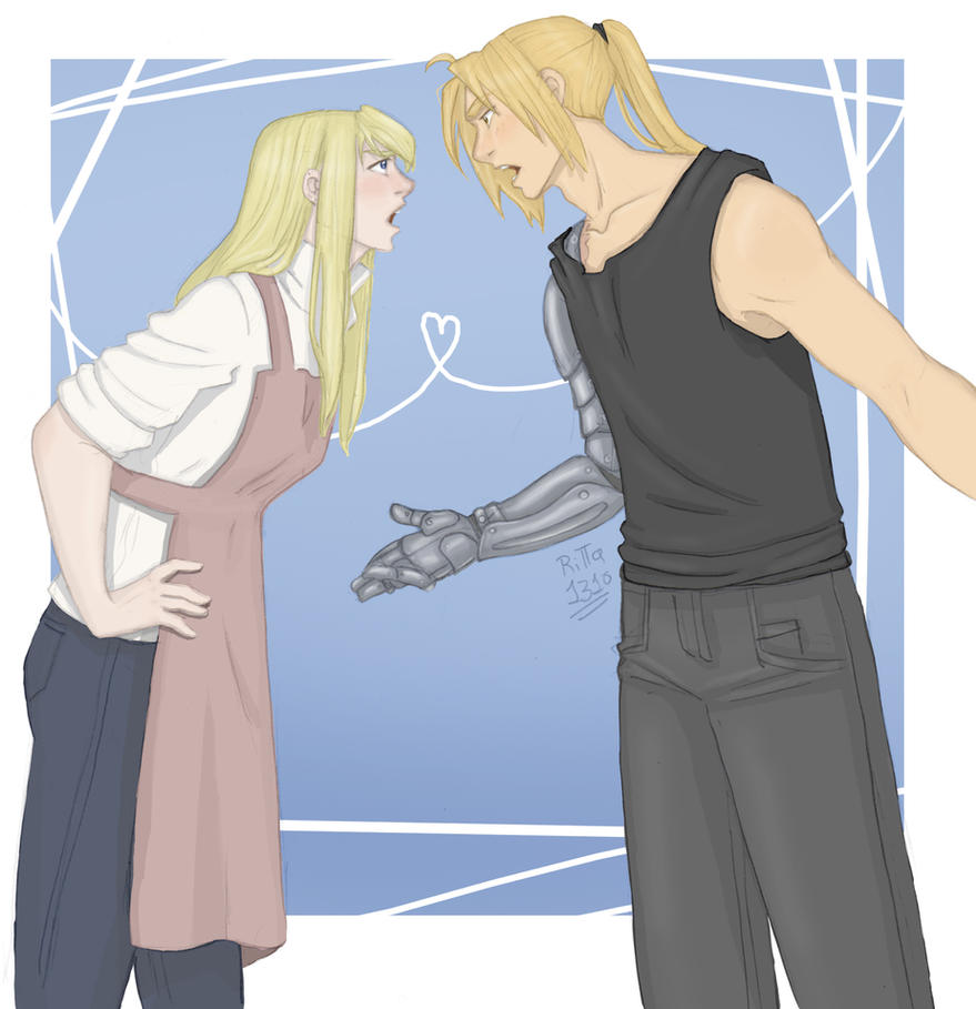 Ed and Winry by RiTTa1310